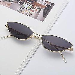 LXQ Pequeña Caja Gafas de Sol Moda Gato Ojo Gafas de Sol océano Pieza Gafas de Sol Viajes al Aire Libre Marea Coincidencia,e