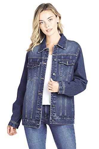 Oversized Denim - Blue Age Denim Jean Jacket (JK4018_DK_M)
