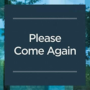 Please Come Again CGSignLab 2465610/_5gfxp/_96x48/_None Chalk Corner Perforated Window Decal 96x48