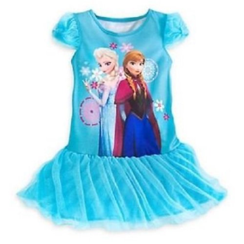 Anna And Elsa Deluxe Tutu Nightgown   Nightshirt Size 4