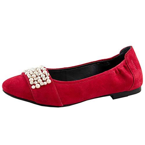 Red Ballerines Marc Femme 00859 Aurelia Shoes Dark Rouge goat Suede rqAA8EOnwg