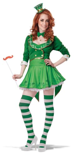 Adult Lucky Charm Costumes (California Costumes Women's Lucky Charm Adult, Green/White, X-Large)