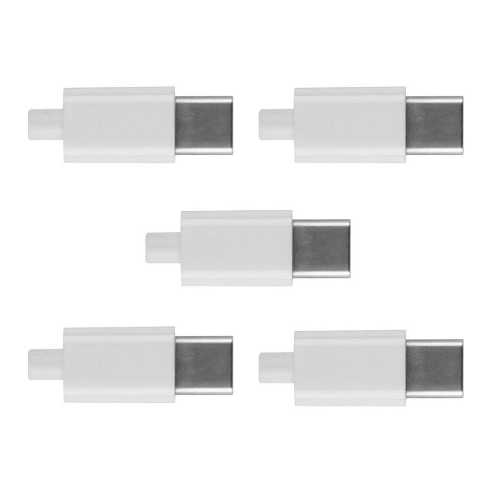 YOUKITTY 10pcs//lot 5set DIY 24pin USB 3.1 Type C USB-C Male Plug Connector SMT Type with Black Housing Cover