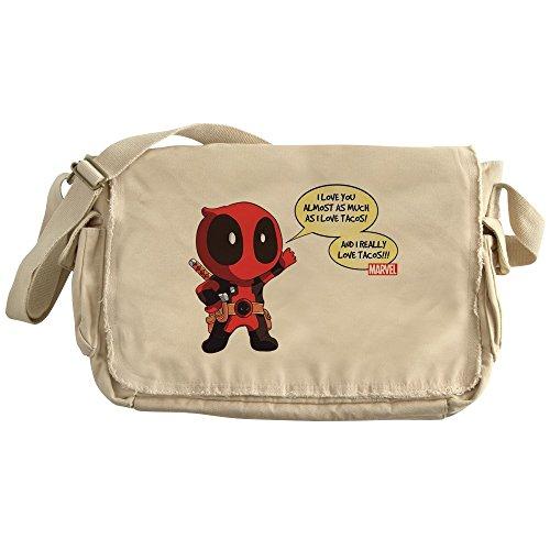 CafePress - Deadpool Love Tacos - Unique Messenger Bag, Canvas Courier Bag by CafePress