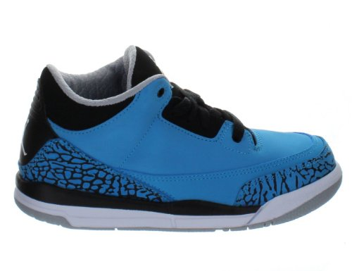 Jordan Kids Retro 3 (Ps) Dark Powder Blue/White-Black 429487-406 12c by Jordan