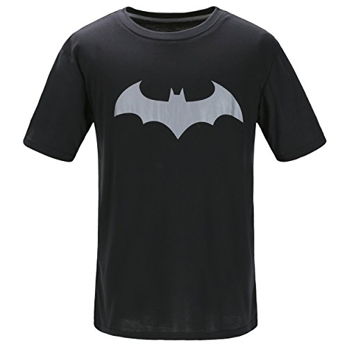 Justice League Batman T-Shirt, Graphic Short-Sleeve Novelty Tee (Black, - Shop Justice At