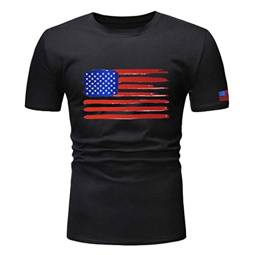 Boys Youth Short Sleeve T Shirt,Toponly Men Slim Fit Patriotic O Neck American Flag Print Tees Tops Muscle Sports Pullover ()