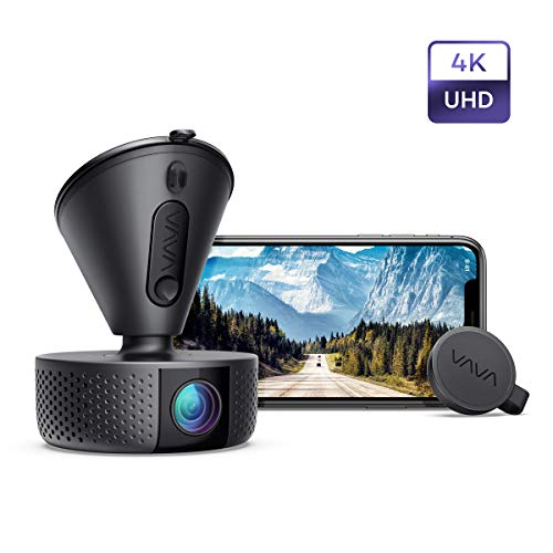 Dash Cam, VAVA 4K 3840X2140@30Fps Wi-Fi Car Dash Camera with Sony Night Vision Sensor, Dashboard Camera Recorder with Parking Mode, G-Sensor, Loop Recording, Support 256GB Max (Best Dash Cam With Parking Mode)