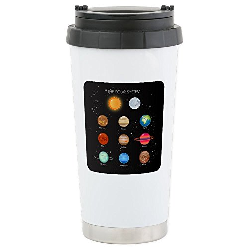Stainless Steel Travel Drink Mug Solar System Sun Moon and Planets by Royal Lion