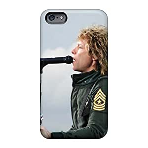 Shock Absorption Hard Phone Covers For Iphone 6 With Allow Personal Design Attractive Bon Jovi Pattern KellyLast