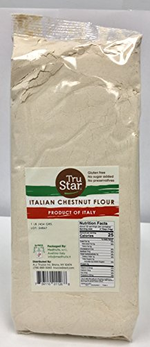 TruStar Italian Chestnut Flour, 1lb bag (Pack of 2)