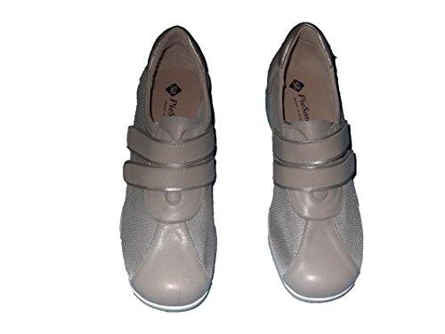 Especial Ancho Zapato señora Gris Piel Extraíble de Plantilla t1wPp