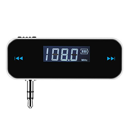 VicTsing 3.5mm In-car FM Transmitter Radio Adapter for iPod iPad iPhone Tablet PC, Other Devices With 3.5mm Audio Jack (Cell Phone Accessories For Radio compare prices)