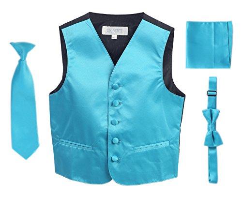 UPC 840226117782, Gioberti Boys 4pc Formal Vest Set, Turquoise 4-5