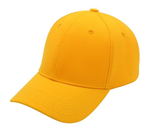 - Top Level Baseball Cap Hat Men Women - Classic Adjustable Plain Blank, GLD