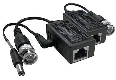 Amazon com: BNC Video + DC Power Over Cat5 Cat5E Cat6
