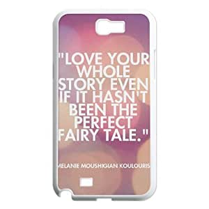 Gentleman's Quotes Samsung Galaxy Note 2 Case White Yearinspace929912