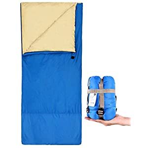 Ohuhu Sleeping Bag with a Carrying Bag, Right Zip