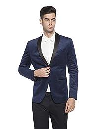 RLM Mens Peaked Lapel One Button Tuxedo Slim Fit Dinner Jacket