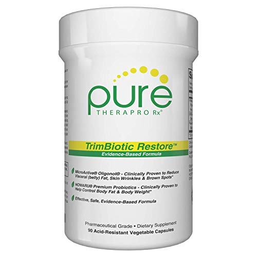 TrimBiotic Restore - Clinically Proven for Fat Reduction & Skin Health | Supports Cardiovascular Health & Circulation | Featuring: MicroActive Oligonol (2X More Potent) and B. Lactis B420 (Probiotic)