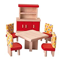 Plan Toys- Doll House Dining Room - Neo Style