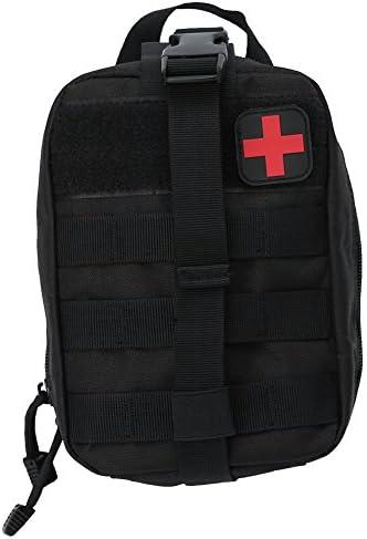Alomejor Erste Hilfe Tasche EMT Medical Erste Hilfe Utility Pouch Leer Medizinische Tasche für Notfall Reisen Camping Wandern Radfahren Outdoor