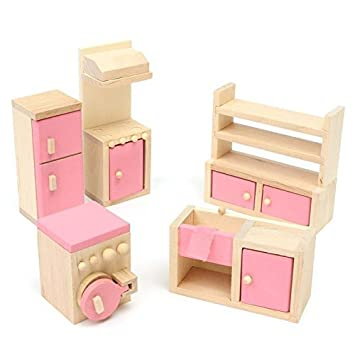 Amazon Com Mama Store Kids House Play Wooden Children Doll Houses