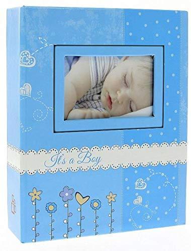 Album Photo Bébé Bambini Bleu pour 200 photos 10x15 cm LCD