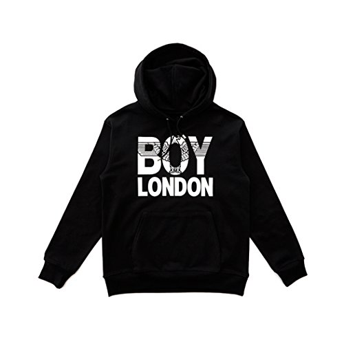 BOY London Unisex (S,M,L,XL) BOYLONDON Eagle Printed Hoodie - Black,White New_(BG3HD032) (Black, Large) by BOY London