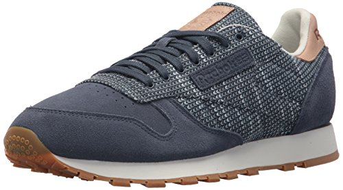Reebok Men CL Leather Ebk Sneaker Smoky Indigo/Cloud Grey/C