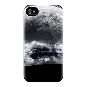 New Abstract Moon Tpu Case Cover, Anti-scratch TCFoUdl1775sfRJQ Phone Case For Iphone 4/4s