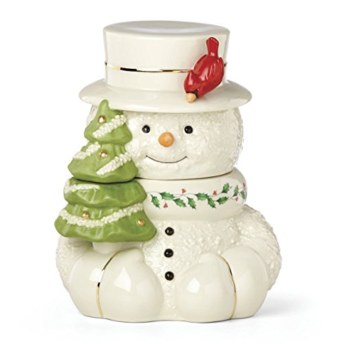 Lenox 879208 Happy Hollydays Cookie Jar, Multicolor (Happy Holidays Cookie Jar)