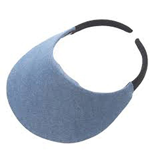 No Headache Midsize Visor (One Size, Denim) Plastic Distributor Head