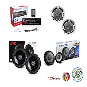 Pioneer DEH-150MP Car Audio CD MP3 Stereo Radio Player, Front Aux Input with 6.5 Inch 2-WAY Car Audio Speaker (Black)