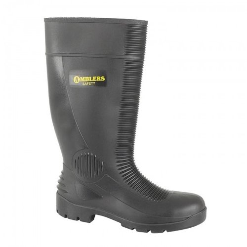 Wellingtons Ladies Womens FS100 Safety Amblers Steel Boots Wellington Black Safety xwXv8C7q