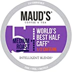 Maud's Half Caff Coffee (World's Best Half Caff), 100ct. Recyclable Single Serve Coffee Pods - Richly satisfying arabica beans California Roasted, k-cup compatible including 2.0