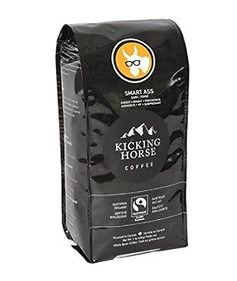 Kicking Horse Organic Medium Roast Whole Bean Coffee, Smart Ass, 1 lb