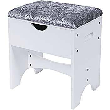 Amazon Com Urban Modern Vanity Bench Chrome 16 25h X