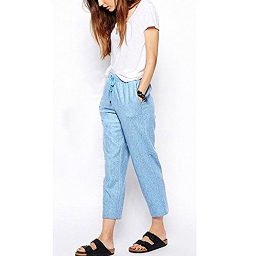 Light Blue Ankle Pantaloncini Length Sobrisah Donna PqE1xfa