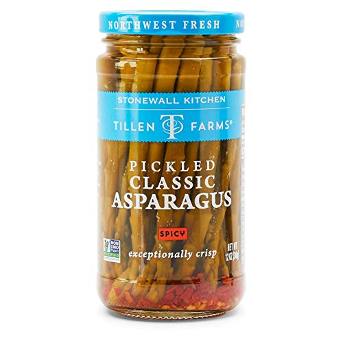 Tillen Farms Spicy Pickled Asparagus, 12 Ounce (Pack of 6)