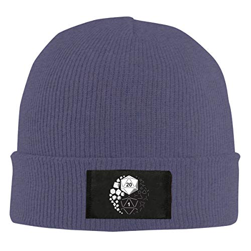 Dungeons and Dragons Yin Yang Customized Wool Knit Beanie Cap Winter Warm Stretch Hat for Men Women