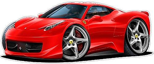 Amazon Com Various Personalised Ferrari Car Wall Art Sticker 100cm W X 48cm H Sg43 Home Kitchen