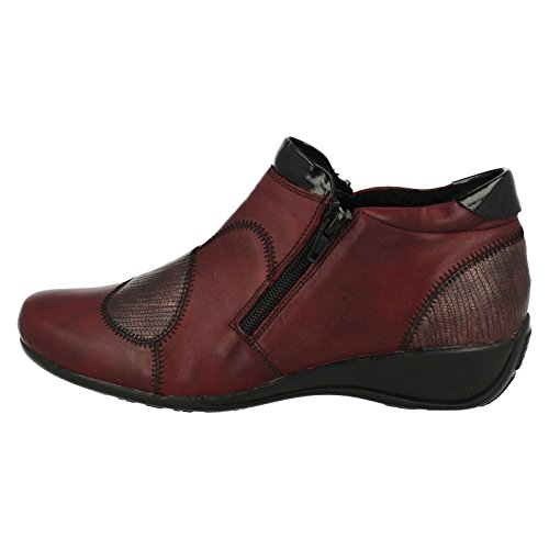 Boots Ladies Ankle Red R9884 Remonte Combi qpHpU1x