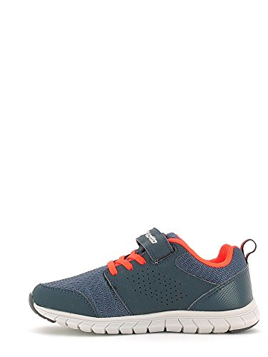 Lotto Spacerun II CL SL, Zapatillas de Running Unisex Infantil, Azul / Plateado (Nvy Dk / Slv Mt), 35 EU