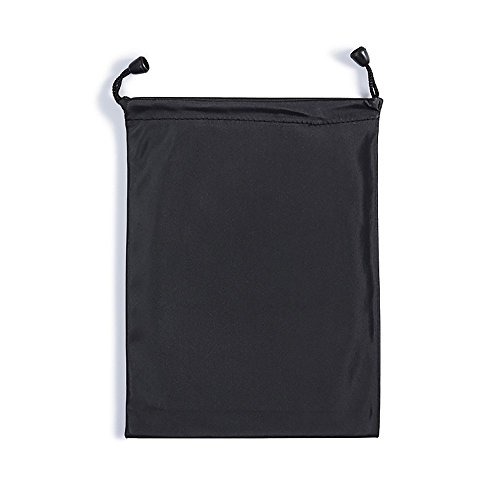 GLCON Waterproof Black Dark Small Carrying Storage Pouch Case Canvas Bags for Iphones Coins Pencil Case Cosmetic Bags and Ipad Mini,case for headset earphones cell phone accessories,Protection of - Pouch Microfiber