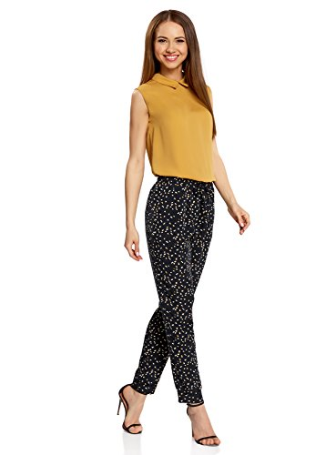 Nero Donna Leggeri Pantaloni Fluido 2957g Tessuto oodji Collection in 0xzPww