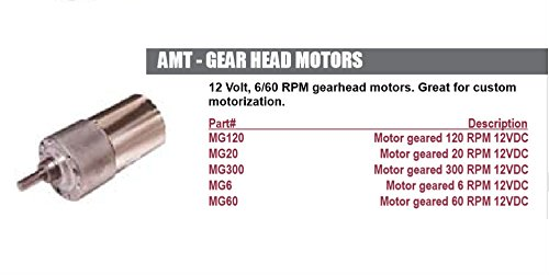 Accele MG20 AMT 12VDC 6/60 RPM Gear head Motor 20RPM