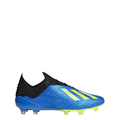 adidas Men's X 18.1 FG Soccer Cleat, 10.0 D(M) US, Football Blue/Solar Yellow/Core Black