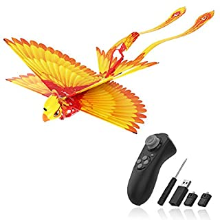 Go Go Bird Flying Toy, Remote Control Flying Toys, Mini RC Flying Bird, Drone-Tech Toy, Smart Bionic Flapping Wings Flying Bird Perfect for Kids, Boys and Girls, Yellow