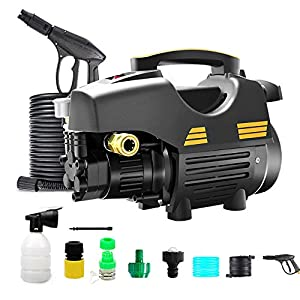 2200W 5-11MPа 250-380 L/h Pressure Washer Jet Wash Power Washer with Adjustable Spray Nozzle & Detergent Container,A